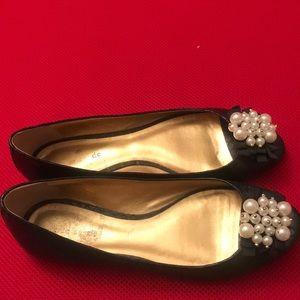 kate spade Shoes - Kate Spade black pearl peep toe flats
